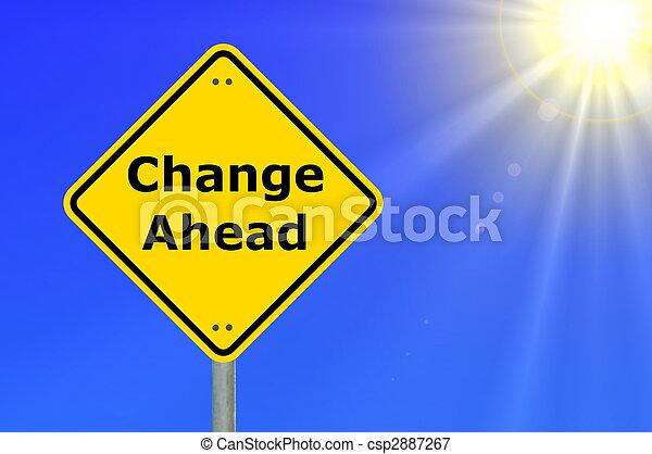 veranderen, vooruit - csp2887267