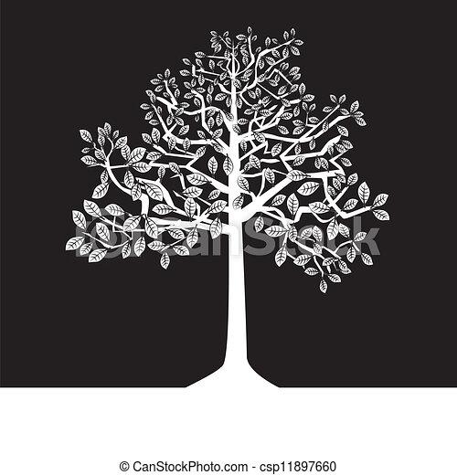 Verano blanco rboles negro silueta verano negativo for Arboles para plantar en verano