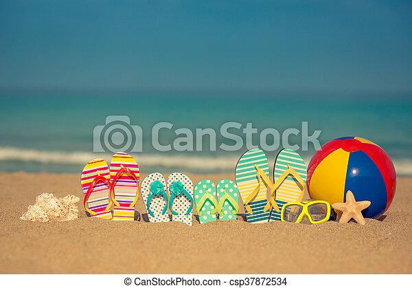 Un concepto de vacaciones de verano - csp37872534