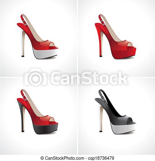 Un par de zapatos de verano para mujeres - csp18736479