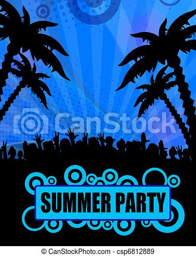 Diseño de fiestas de verano - csp6812889