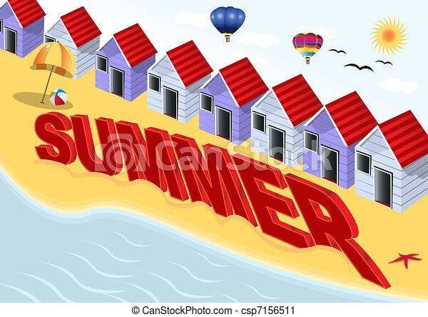 Escena de verano - csp7156511