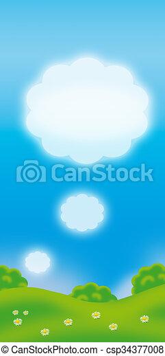 Escena de verano - csp34377008