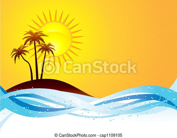 Escena de verano - csp1109105