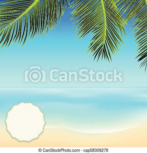 Escena tropical de verano con espacio de copia en una esquina - csp58309278