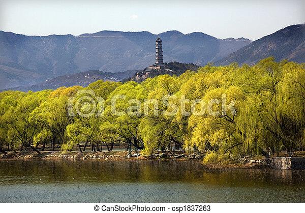 Yu feng pagoda el palacio de verano va a ser de China - csp1837263