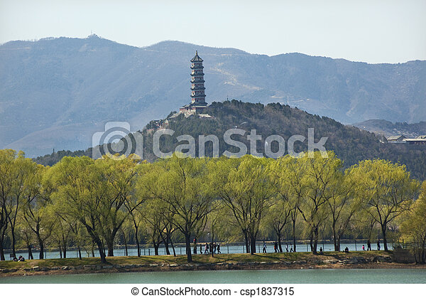 Yu feng pagoda el palacio de verano va a ser de China - csp1837315