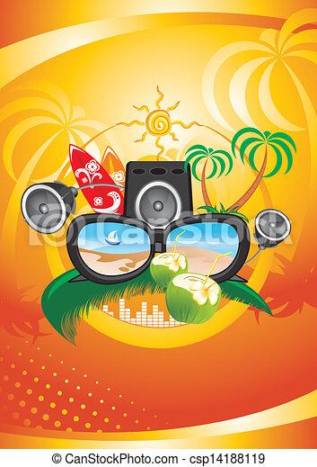 Fiesta de verano - csp14188119