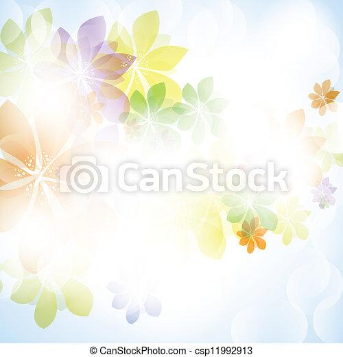 Colorida primavera de verano con flores - csp11992913