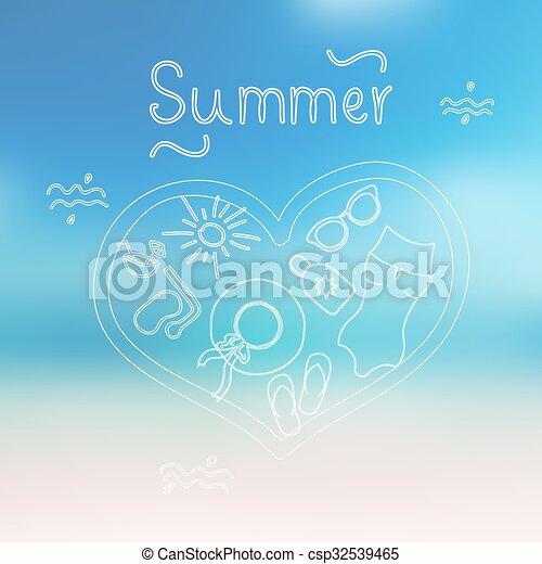 Antecedentes de verano. - csp32539465