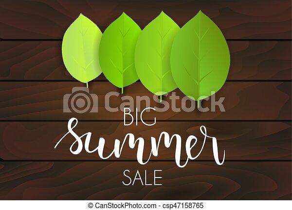 La venta de verano verde deja antecedentes - csp47158765