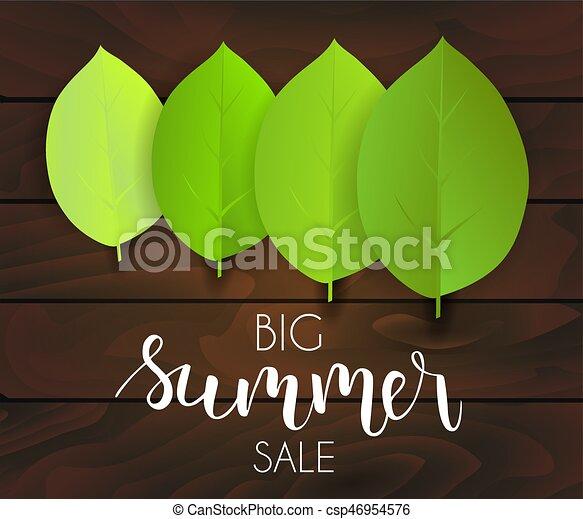 La venta de verano verde deja antecedentes - csp46954576