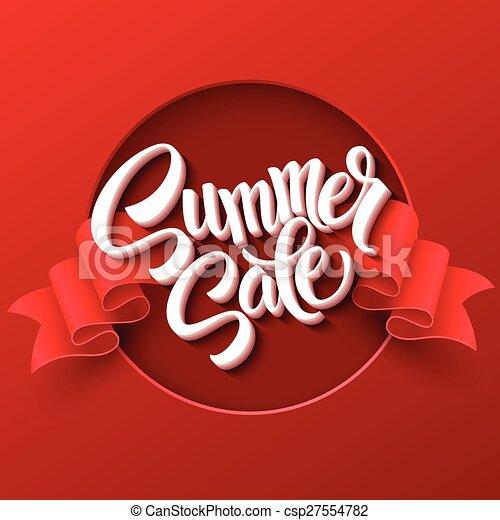 Venta de verano. La etiqueta de la cinta. Ilustración de vectores - csp27554782