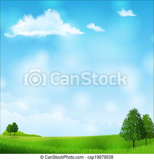 verano, paisaje - csp19979539
