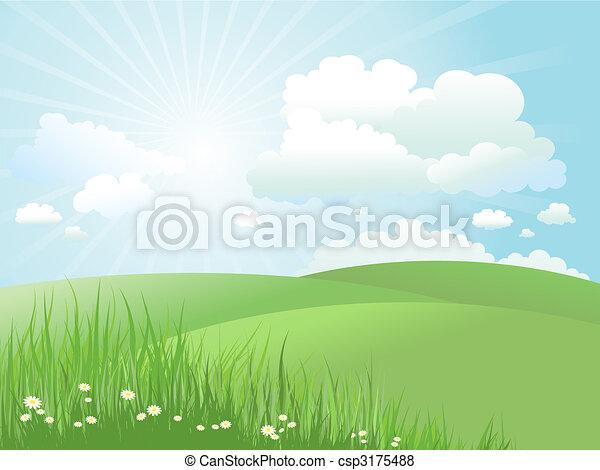 Paisaje de verano - csp3175488