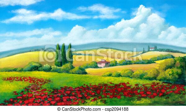 verano, paisaje - csp2094188