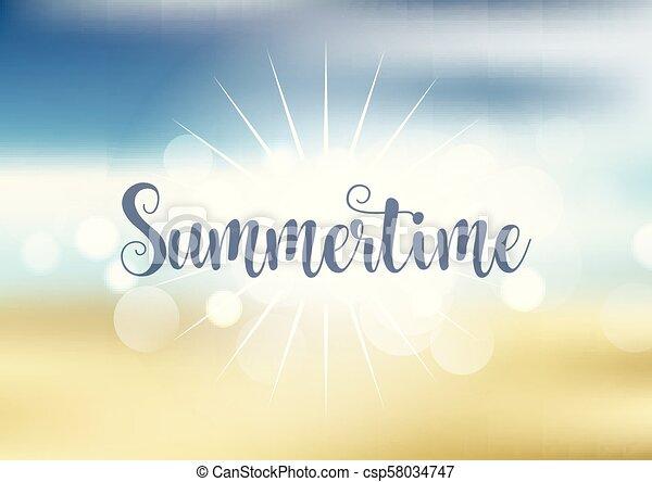 Antecedentes temáticos de verano - csp58034747