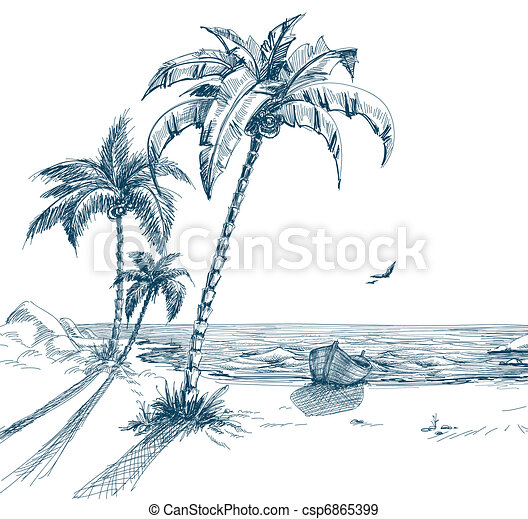 Verano Playa Verano 225 Rboles Gaviotas Orilla