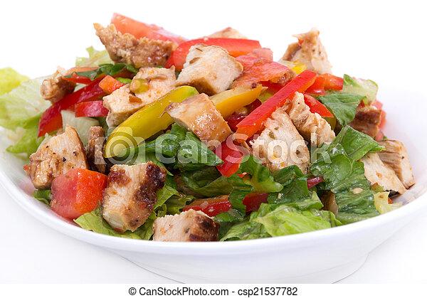 Ensalada de pollo asado - csp21537782