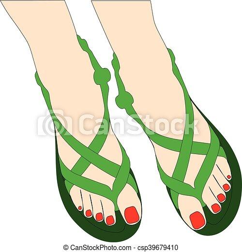 Zapatos de verano - csp39679410