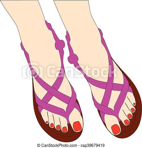 Zapatos de verano - csp39679419