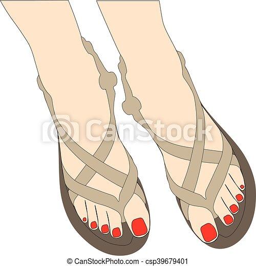 Zapatos de verano - csp39679401