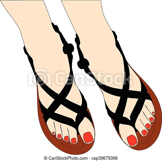 Zapatos de verano - csp39679396
