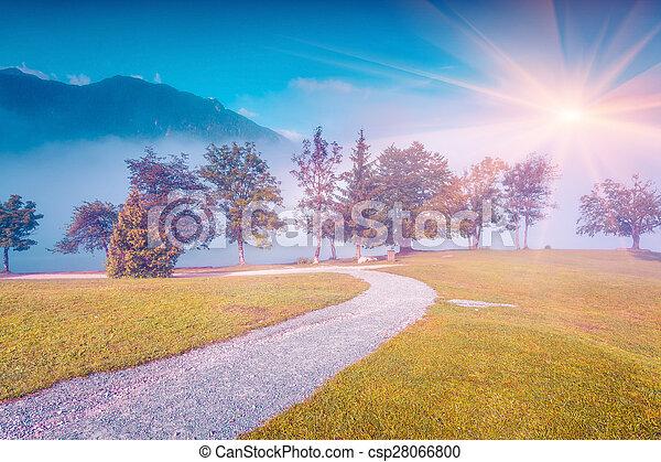 Mañana de verano en el parque de Stara Fuzina - csp28066800