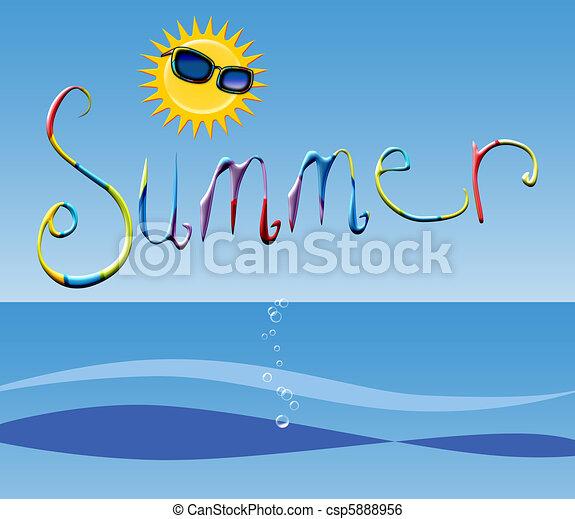 Tiempo de verano - csp5888956