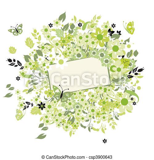 Sueños de verano, tarjeta de felicitación - csp3900643