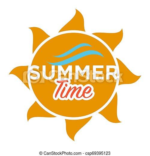 Texto de verano en el sol ilustración aislada - csp69395123