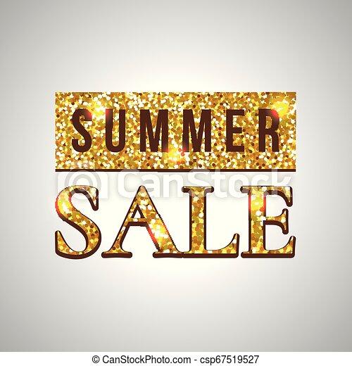Texto de la venta de verano sobre el fondo verde - csp67519527