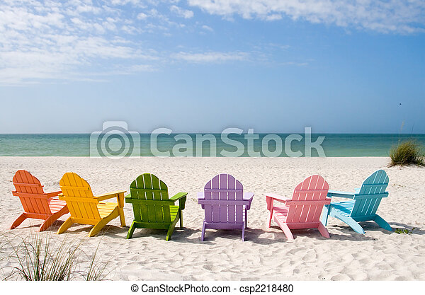 Playa de vacaciones de verano - csp2218480