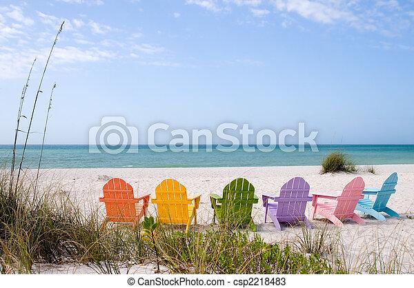 Playa de vacaciones de verano - csp2218483
