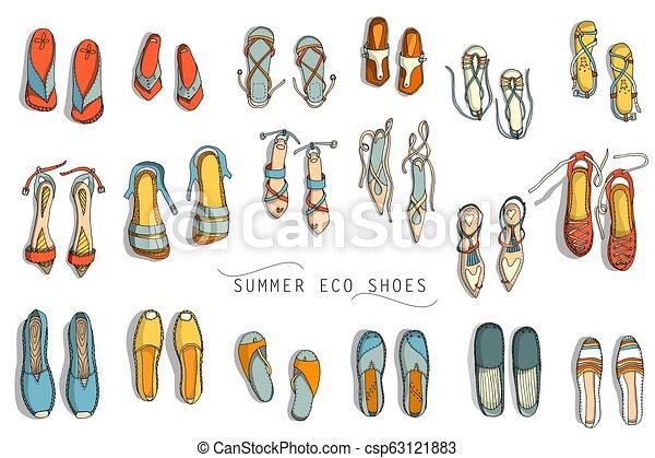Zapatos de verano femeninos - csp63121883