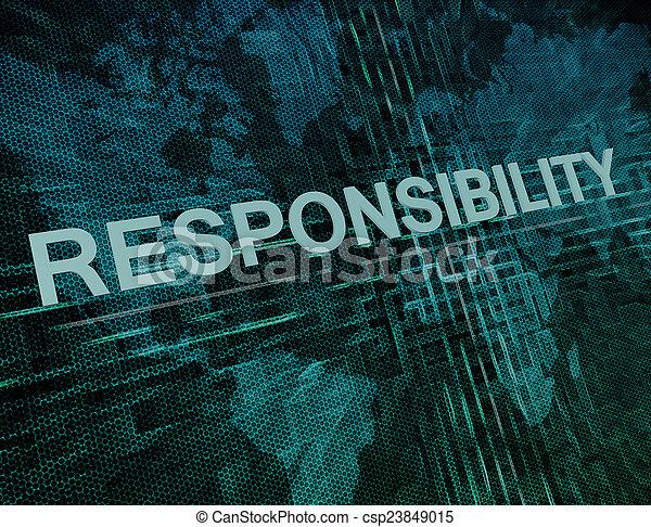 verantwoordelijkheidsgevoel - csp23849015