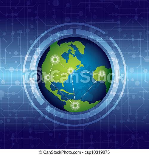 verbinding, globaal - csp10319075