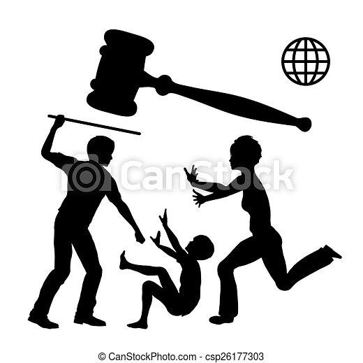 verbod, violence, huiselijk - csp26177303