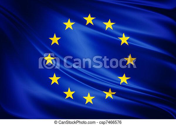 verbond vlag, europeaan - csp7466576