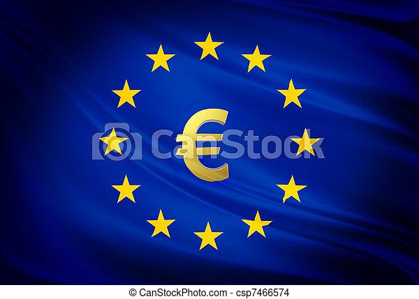 verbond vlag, europeaan - csp7466574