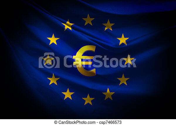 verbond vlag, europeaan - csp7466573