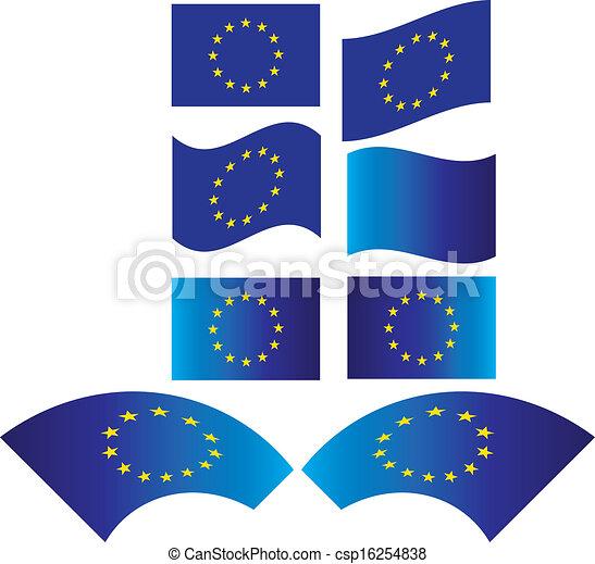 verbond vlag, europen - csp16254838