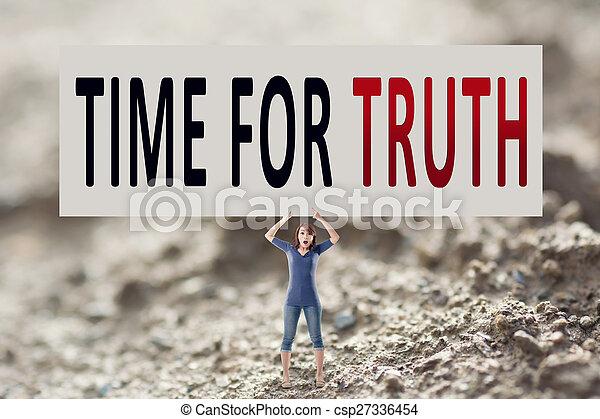 Hora de la verdad - csp27336454