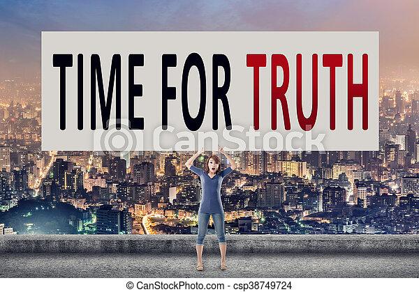 Hora de la verdad - csp38749724