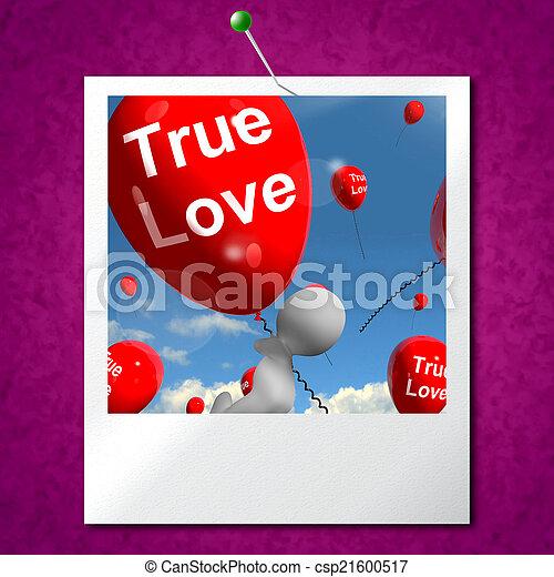verdadeiro, balões, amantes, foto, representa, amor, pares - csp21600517