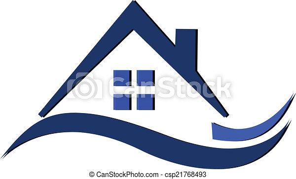 El logotipo de casas onduladas - csp21768493