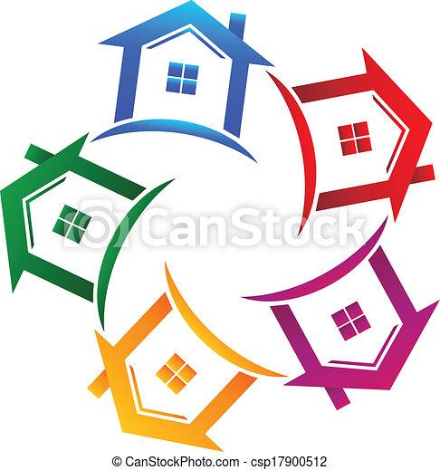 Inmobiliaria 5 casas de ícono - csp17900512