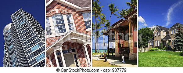 Un collage de bienes raíces - csp1907779