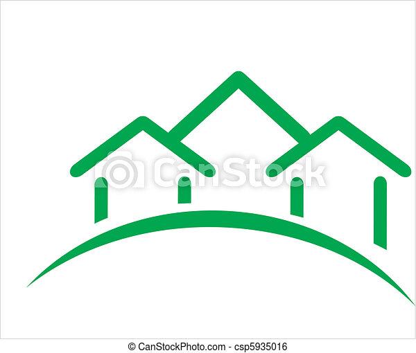 Construcción de icono inmobiliario - csp5935016
