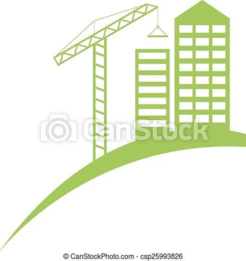 El símbolo de la construcción inmobiliaria - csp25993826
